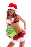 Santa's sexy helper. Royalty Free Stock Photos