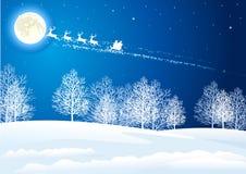 Santa`s sleigh Stock Image