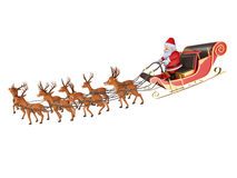 Santa`s sleigh Royalty Free Stock Images