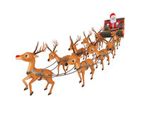 Santa`s sleigh Stock Photos