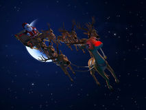 Santa`s sleigh. 3d rendered illustration of santa with his sleigh Stock Photo