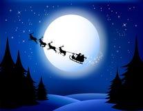 Santa`s sleigh. Vector/Eps8 Stock Image