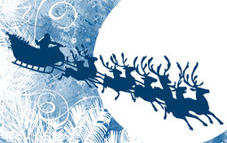 Santa's Sleigh Royalty Free Stock Images