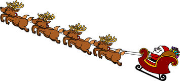 Santa's Sleigh cartoon. Stock Photography