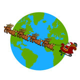 Santa's Sleigh  cartoon. Stock Photo