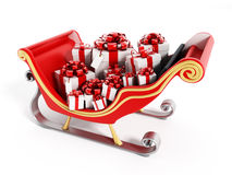 Santa's sleigh full of presents Royalty Free Stock Photo