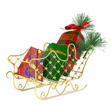 Santa's sleigh with gifts. See my other works in portfolio Stock Image