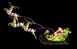 Santa's sleigh illustration Stock Image
