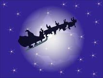 Santa's sleigh illustration Stock Photos