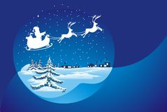 Santa's Sleigh illustration Royalty Free Stock Photos