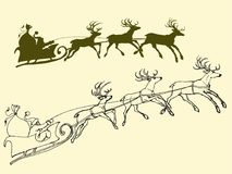 Free Santa`s Sleigh Of Deers Royalty Free Stock Photography - 102024167