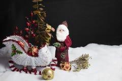 Santa's Sleigh Setting for Christmas Royalty Free Stock Photo