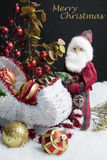 Santa's Sleigh Setting for Christmas Royalty Free Stock Images