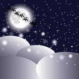 Santa's sleigh in the sky Royalty Free Stock Photos