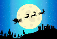 Santa's Sleigh, vector illustration Stock Images