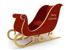 Santa`s sleigh on a white background Stock Image