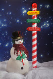 Santa's Snowman royalty free stock image