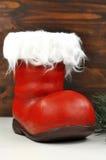 Santa's stocking. Empty Stockings standing on the floor Royalty Free Stock Photo