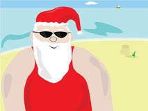 Santa's summer stock illustration