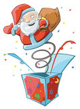 Santa's surprise Stock Photography