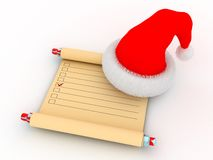 Santa`s task list Stock Photography