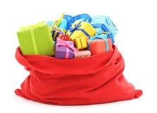Santa ` s torba prezenty Obrazy Stock