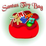 Santa's toy bag Stock Image