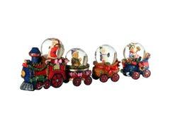 Santa's Train. Santa and Friends on their Xmas Train Stock Photos
