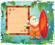 Santa's Vacation Royalty Free Stock Image