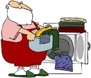 Santa's Wash Day Royalty Free Stock Photo