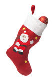 Santa's white and red stocking Royalty Free Stock Images