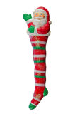 Santa's white and red stocking Stock Photography