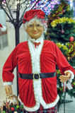 Santa's wife. Santa figure at the entrance to the store Finland Royalty Free Stock Images