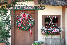 Santa's Workshop. Is decorated for the holiday Royalty Free Stock Photo