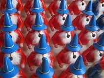 Santa`s Workshop in Germany with Painted Wooden Toys royalty free stock image