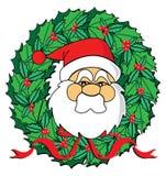 Santa's wreath Stock Image