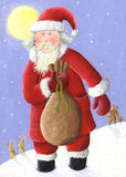 Santa with sack Stock Photo