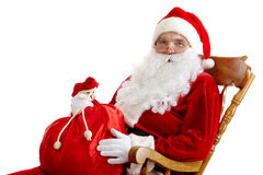 Santa with a sack Stock Images
