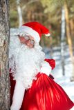 Santa with a sack Stock Photography