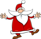 Santa with sack and cane Stock Image