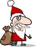 Santa with sack cartoon illustration Stock Photos
