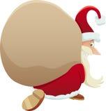 Santa with sack cartoon illustration Royalty Free Stock Photo