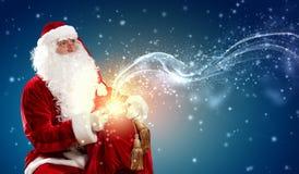 Santa with a sack Stock Photos