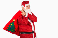 Santa with sack Stock Image