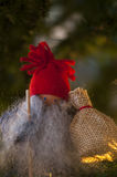 Santa with sack. Santa with a sack full of Christmas gifts royalty free stock photo