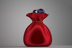 Santa sack full of gifts Stock Image