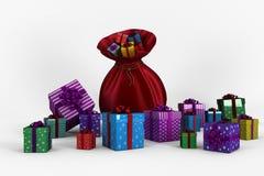 Santa sack full of gifts Stock Images