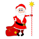 Santa with sack Stock Images