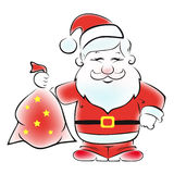 Santa with a sack of gifts. Royalty Free Stock Photography