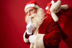 Santa with sack of gifts Royalty Free Stock Photography